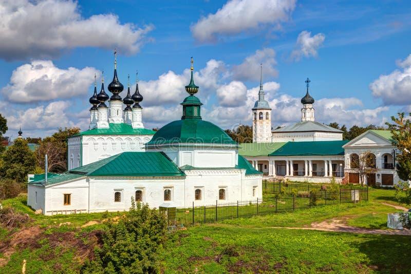 Chiese russe antiche in Suzdal' fotografie stock libere da diritti