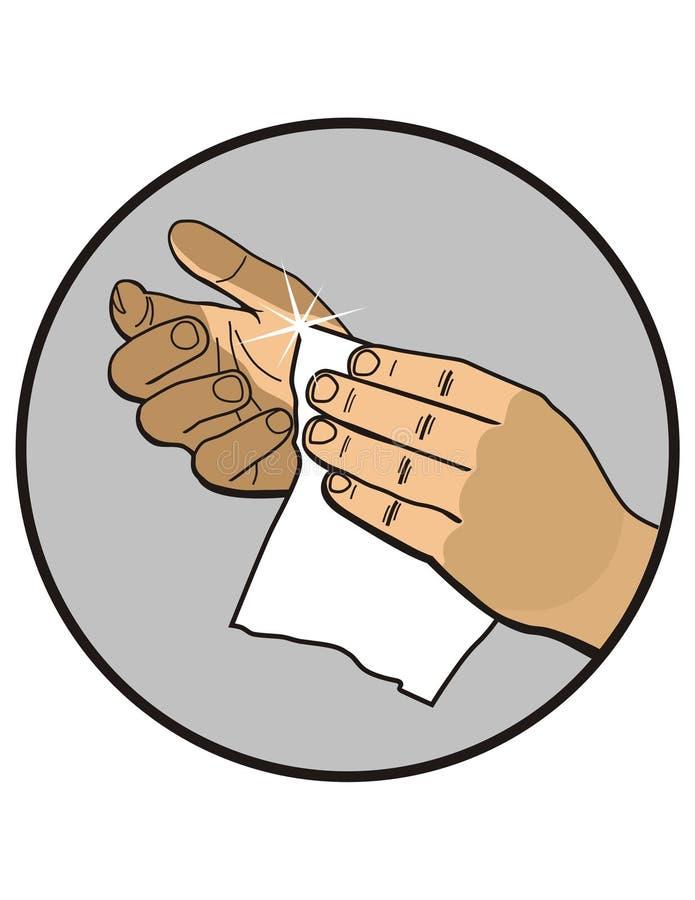 chiffon de nettoyage illustration stock