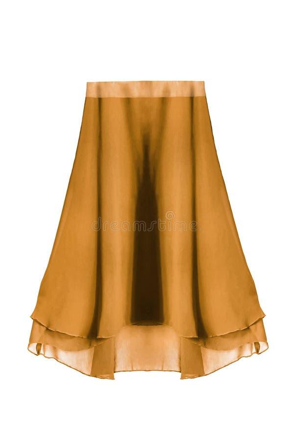 Chiffon skirt isolated royalty free stock images
