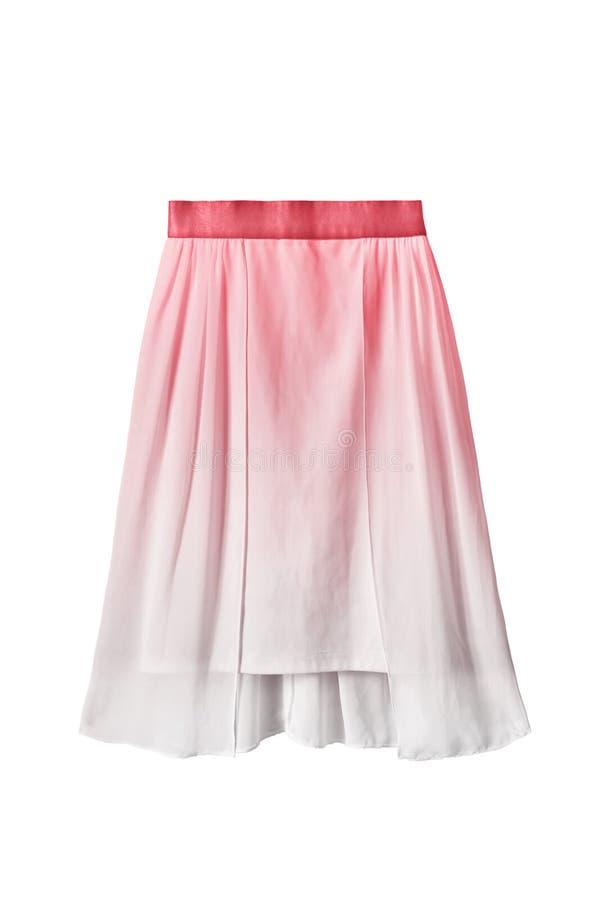 Chiffon skirt isolated stock photo