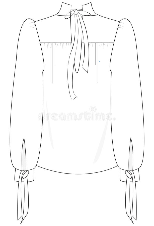 Chiffongskjorta royaltyfria foton
