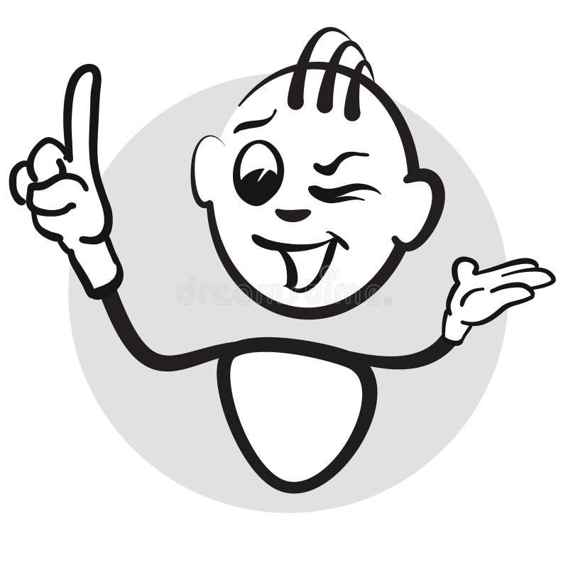 Chiffre émotions de série - doigts de bâton  illustration de vecteur