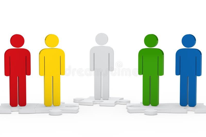Chiffre équipe d'hommes illustration libre de droits