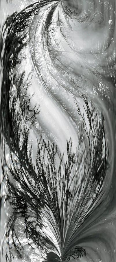 Chiffre abstrait de B&W avec des configurations. image stock