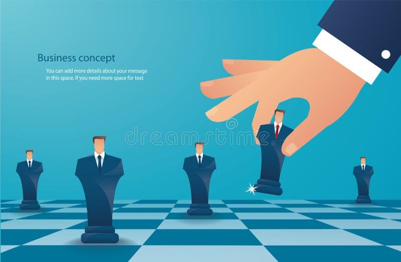 Chiffre d'échecs de jeu d'homme d'affaires illustration eps10 de vecteur de concept de stratégie commerciale illustration de vecteur