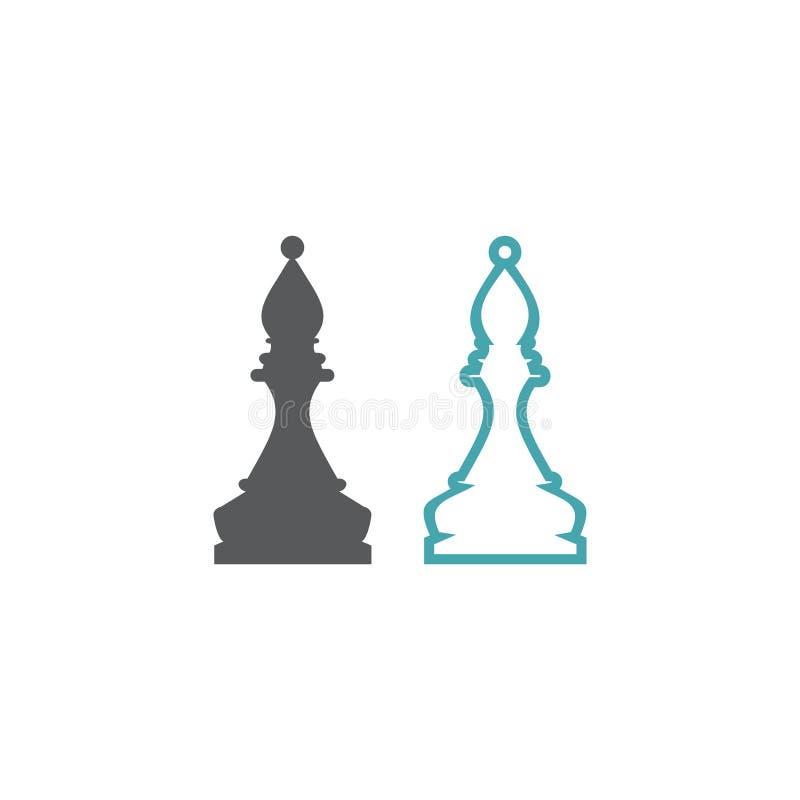 Chiffre d'échecs de l'évêque illustration stock