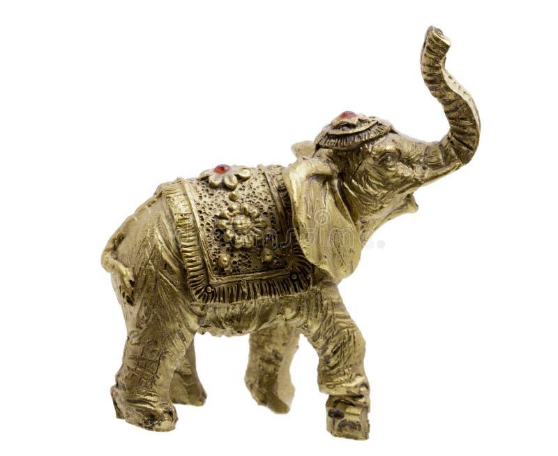 Chiffre d'or d'éléphant sur un blanc photos libres de droits