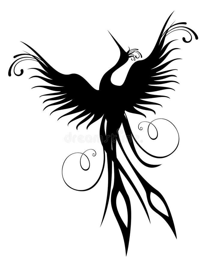 Chiffre d'oiseau de Phoenix d'isolement illustration libre de droits