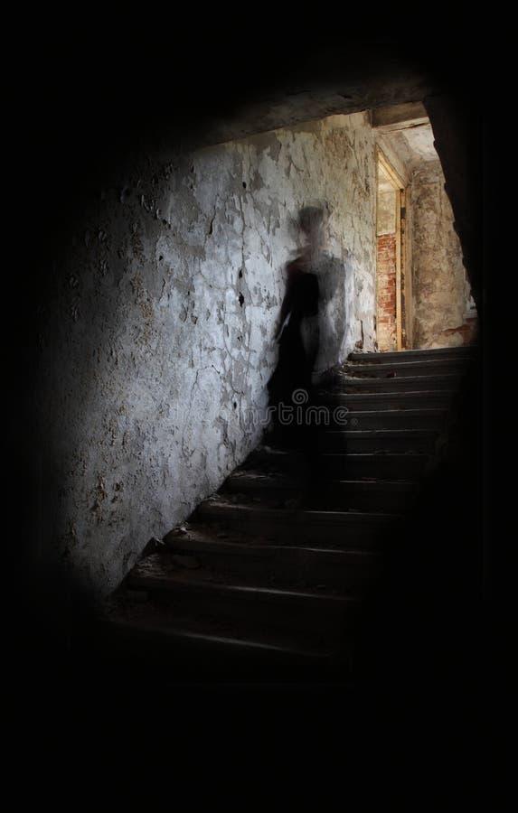 Chiffre d'ordinateur de secours sur des escaliers photographie stock libre de droits