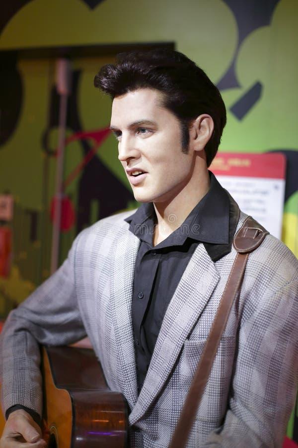 Chiffre de cire d'Elvis Presley image stock