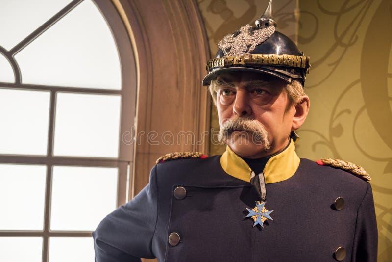 Chiffre de cire d'Otto Von Bismarck photos libres de droits