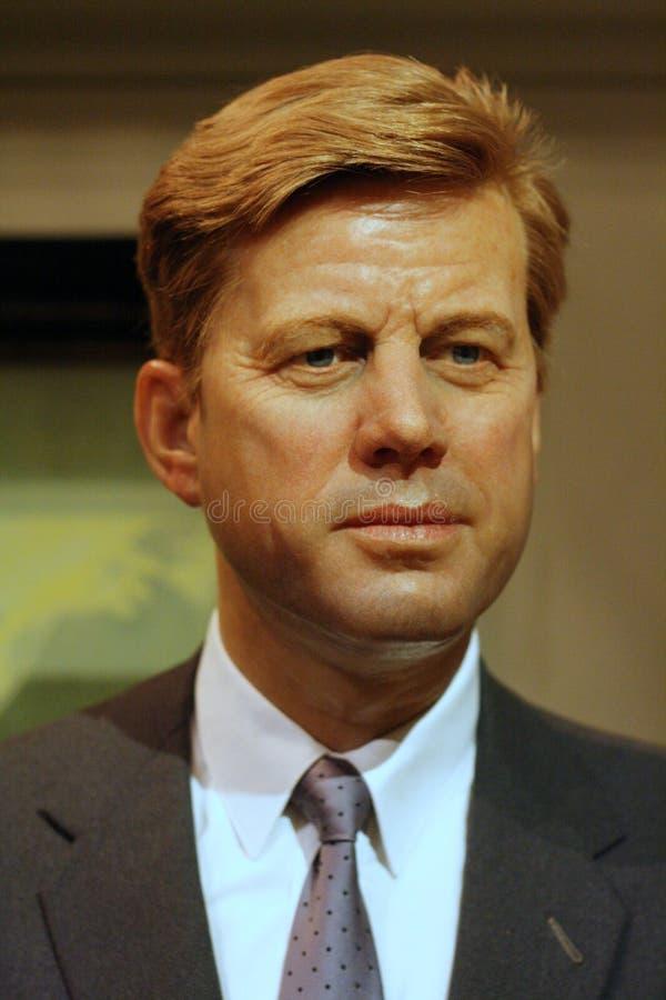 Chiffre de cire de John Fitzgerald Kennedy images stock