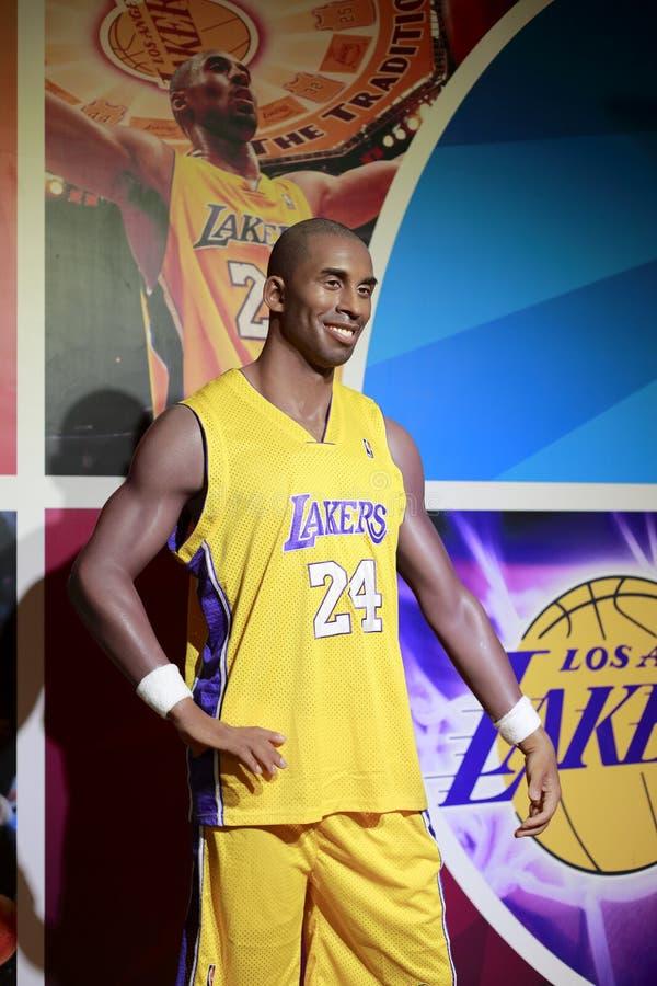 Chiffre de cire de Kobe Bryant de star du basket-ball photo libre de droits