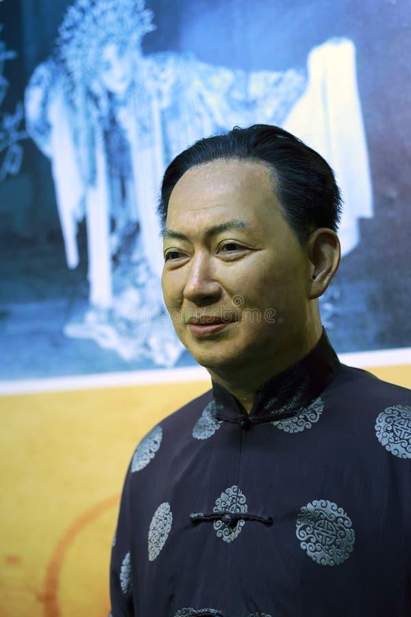 Chiffre de cire de lanfang célèbre de mei de maître d'opéra de Pékin images stock