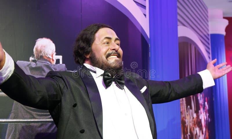 Chiffre de cire de Luciano Pavarotti photo stock