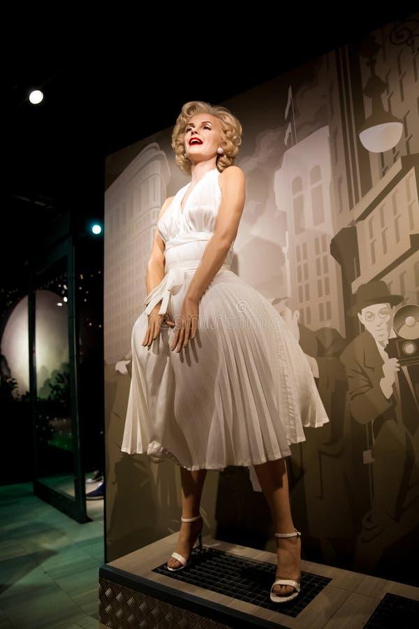 Chiffre de cire de Marilyn Monroe, d'actrice américaine et de modèle dans le musée de Madame Tussauds Wax à Amsterdam, Pays-Bas image stock