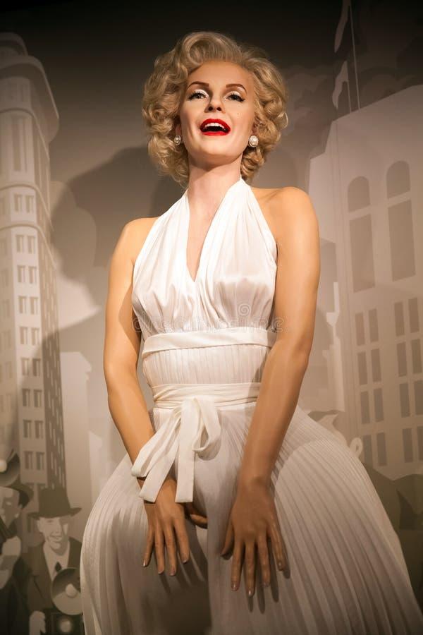 Chiffre de cire de Marilyn Monroe, d'actrice américaine et de modèle dans le musée de Madame Tussauds Wax à Amsterdam, Pays-Bas photo libre de droits