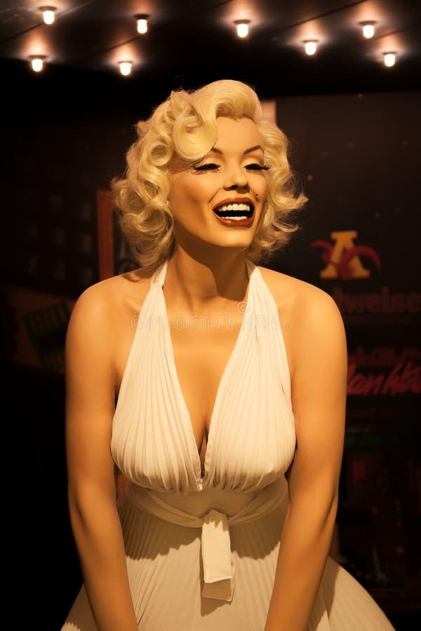Chiffre de cire de Marilyn Monroe dans Madame Tussauds Amsterdam photo stock