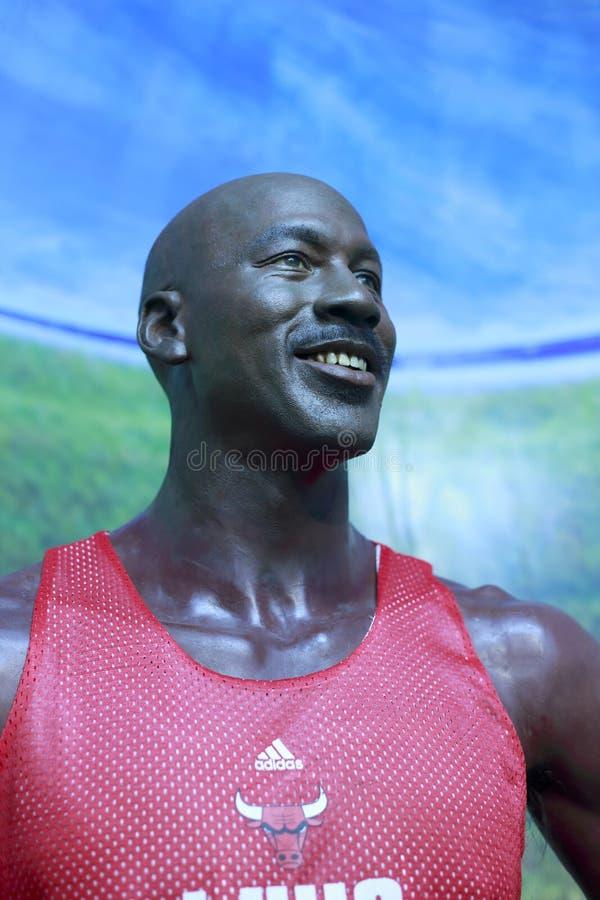 Chiffre de cire de Michael Jordan image libre de droits