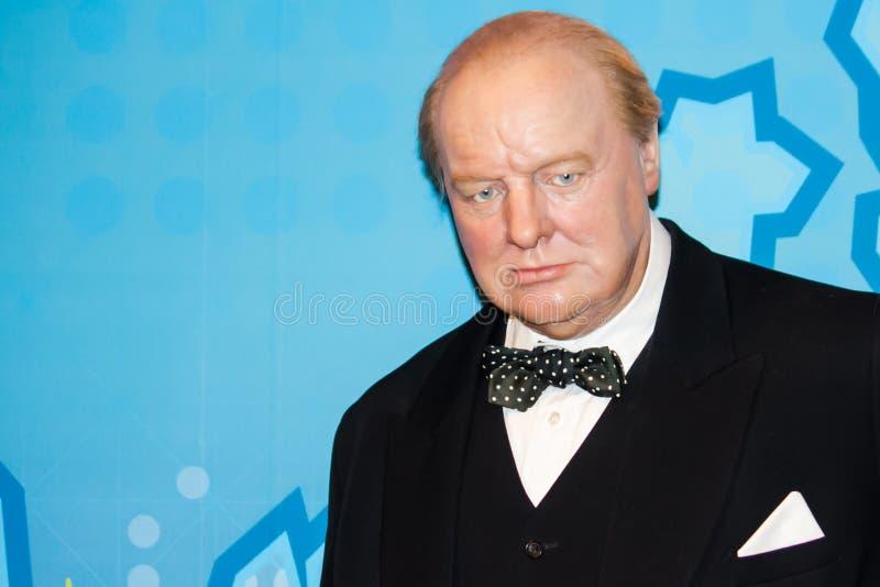 Chiffre de cire de Winston Churchill photographie stock libre de droits