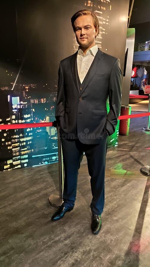 Chiffre de cire de Leonardo DiCaprio au musée Singapour de tussauds de Madame photographie stock libre de droits