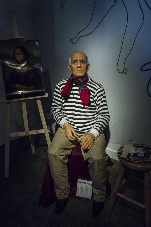 Chiffre de cire de Pablo Picasso photos stock