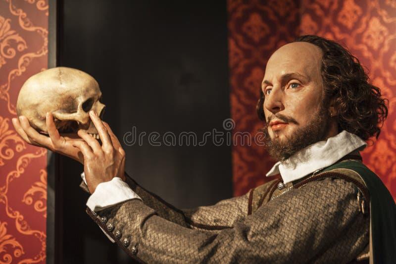 Chiffre de cire de Shakespeare photo libre de droits
