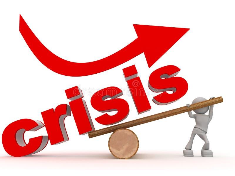 chiffre de crise au-dessus du gain illustration stock