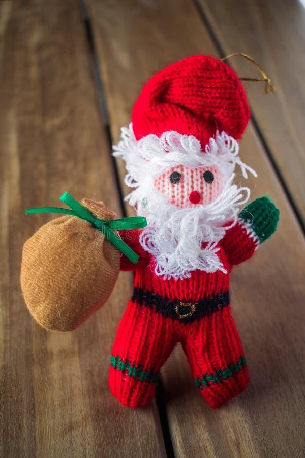 Chiffre de décoration de poupée du père noël d'arbre de Noël photos stock