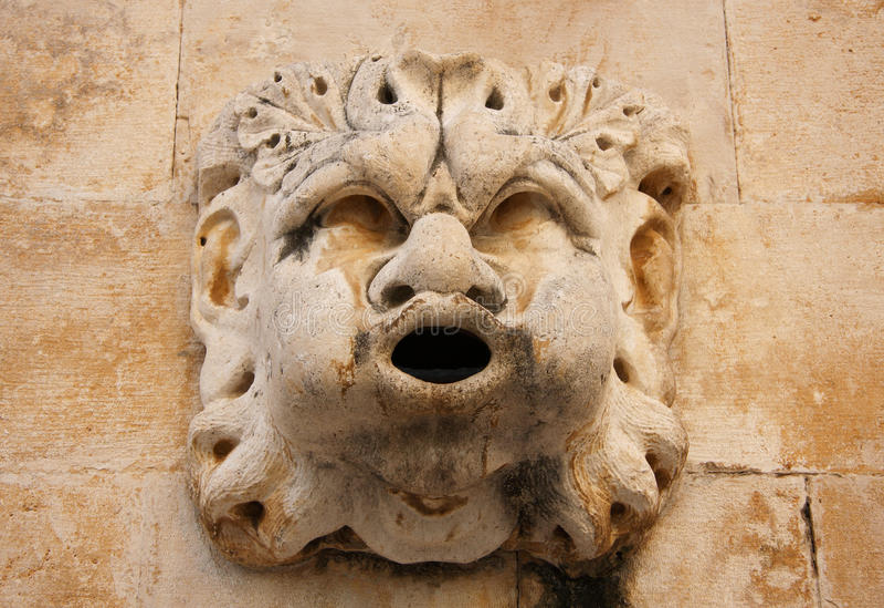 Chiffre de fontaine de la Croatie Dubrovnik photos libres de droits