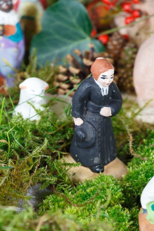 Chiffre de huche de Noël de Provencal, le prêtre photographie stock