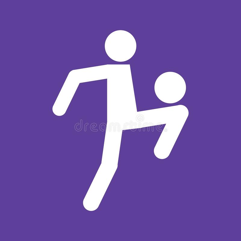 Chiffre de jonglerie graphique de sport du football du football d'illustration de vecteur de symbole illustration stock