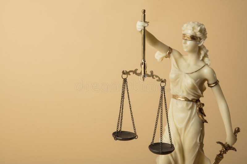 Chiffre de Justizia image stock