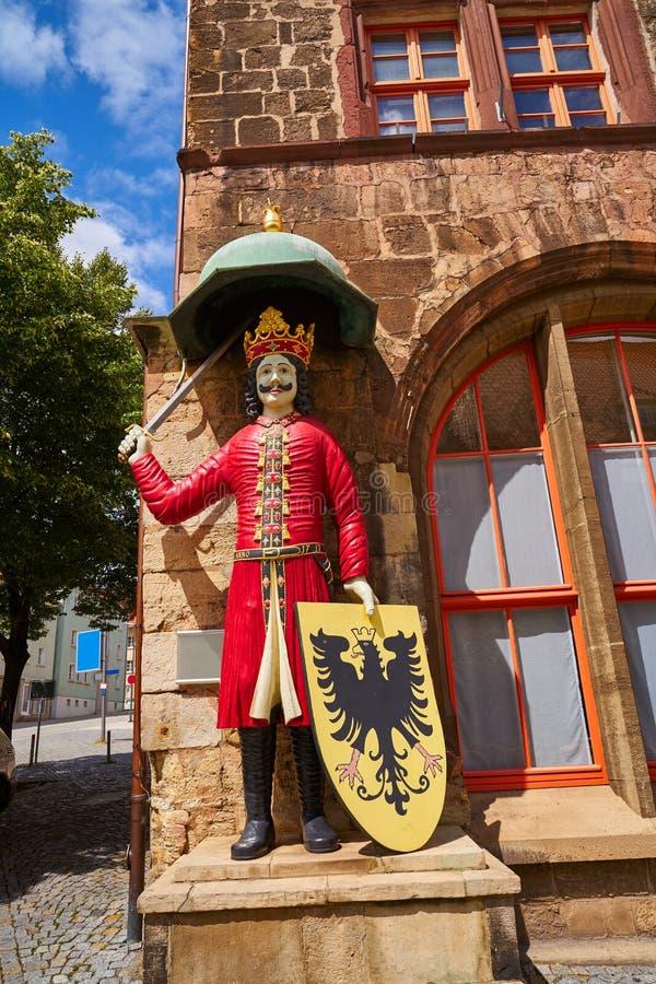 Chiffre de Roland dans Stadt Nordhausen Rathaus Allemagne images libres de droits