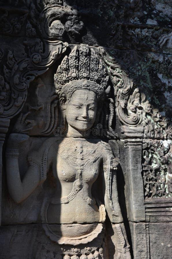 Chiffre en pierre femelle d'Angkok Wat image libre de droits