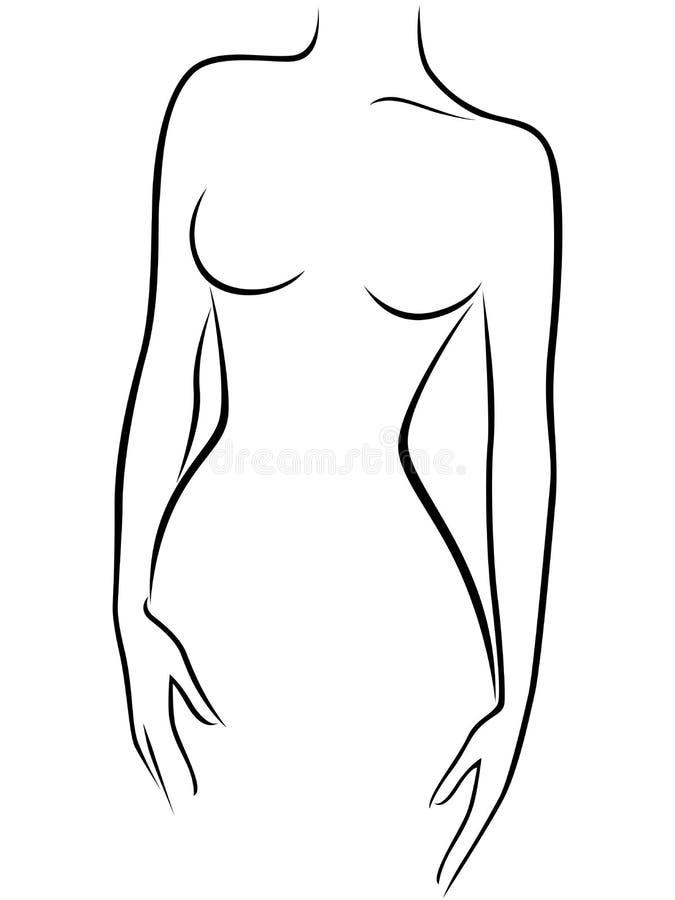Chiffre femelle gracieux abstrait illustration libre de droits