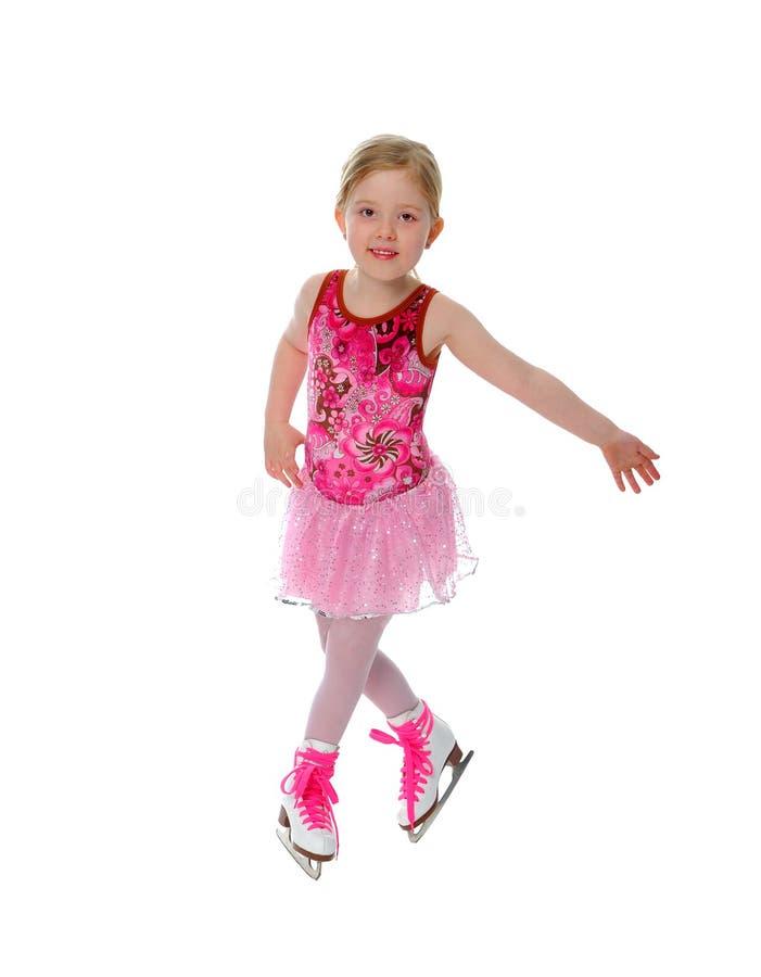 Chiffre fille de six ans de patineur images stock