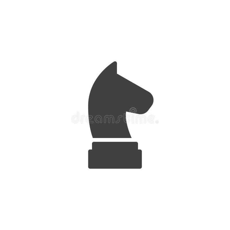 Chiffre icône d'échecs de cheval de vecteur illustration libre de droits