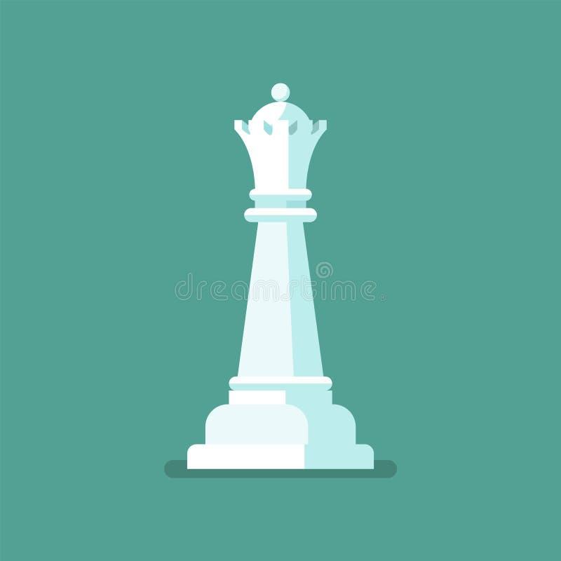 Chiffre icône d'échecs de la Reine illustration libre de droits