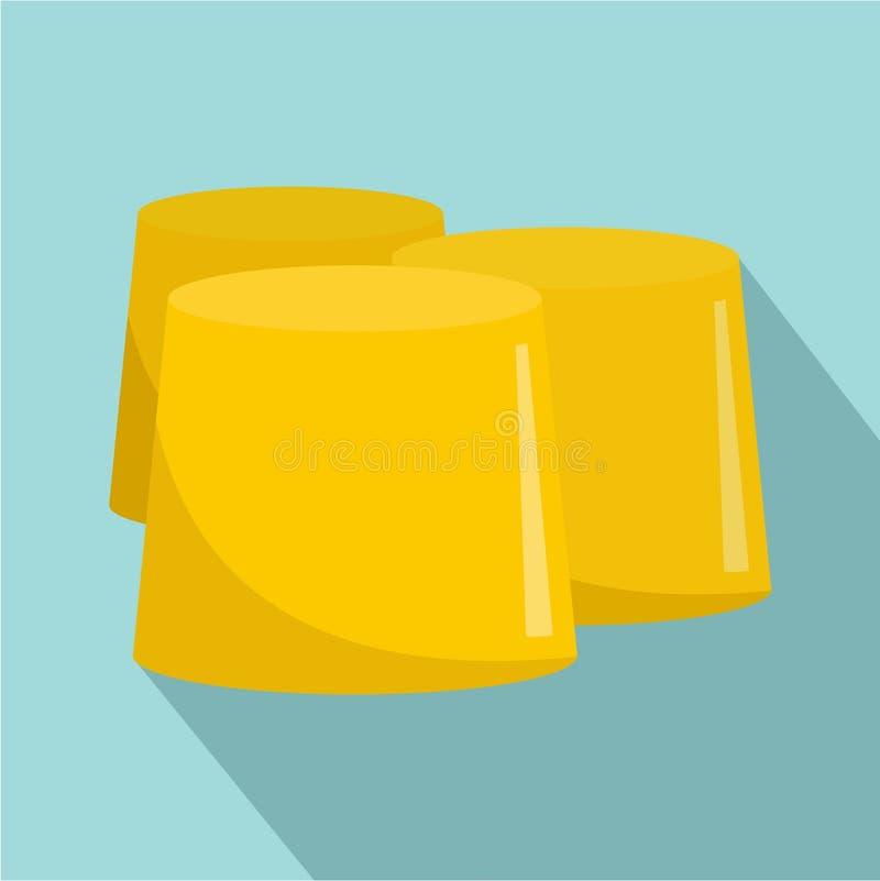 Chiffre icône, style plat de miel illustration de vecteur