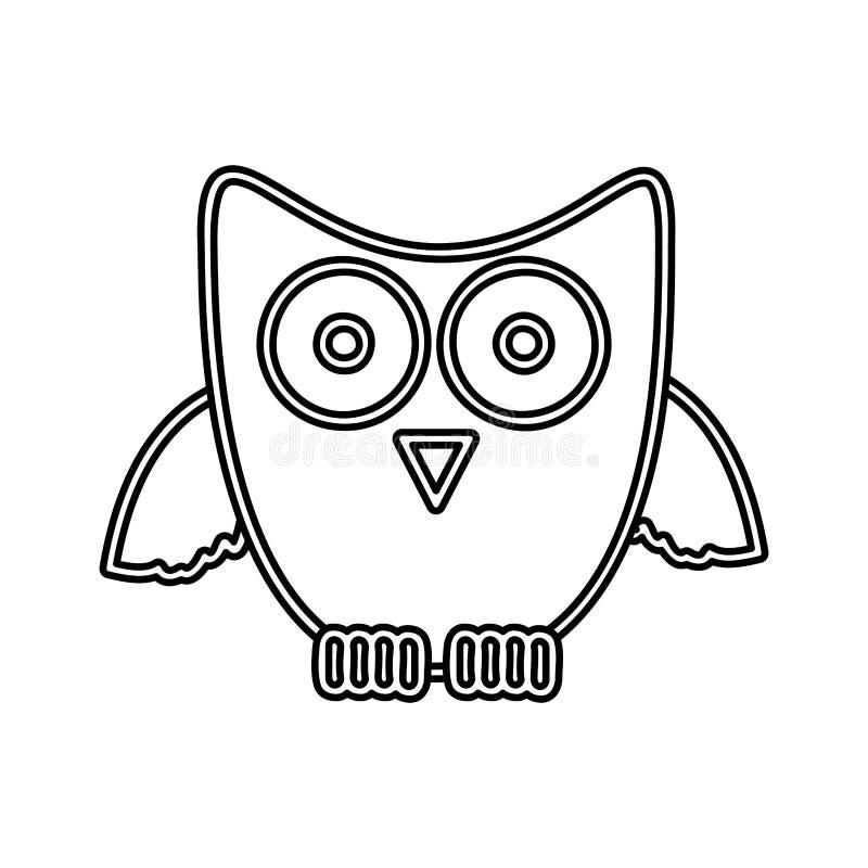 Download Chiffre Icône De Hibou D'autocollant Illustration Stock - Illustration du couleur, enfant: 87706750