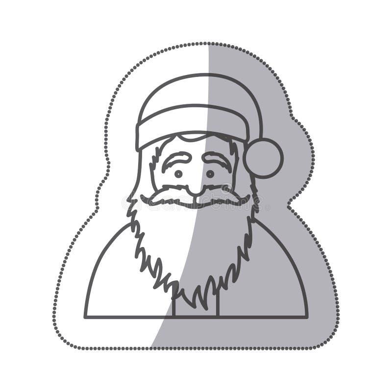 chiffre icône du père noël d'autocollant illustration de vecteur