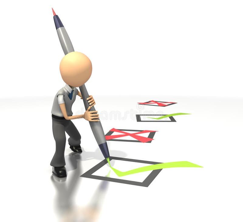 Chiffre liste de contrôle d'affaires illustration de vecteur
