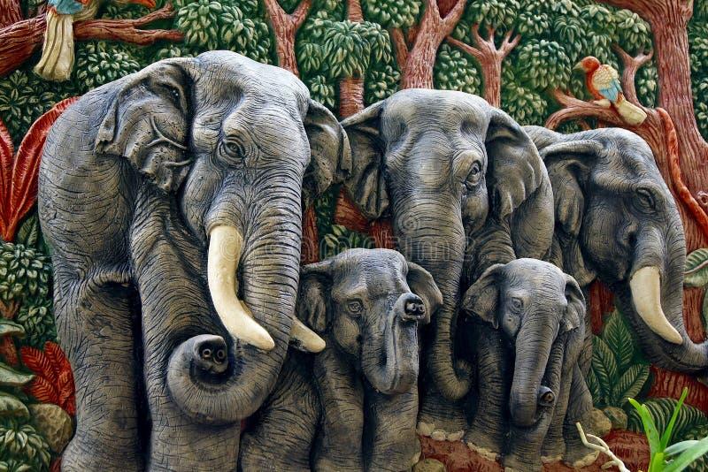 Chiffre moulé d'éléphant images stock