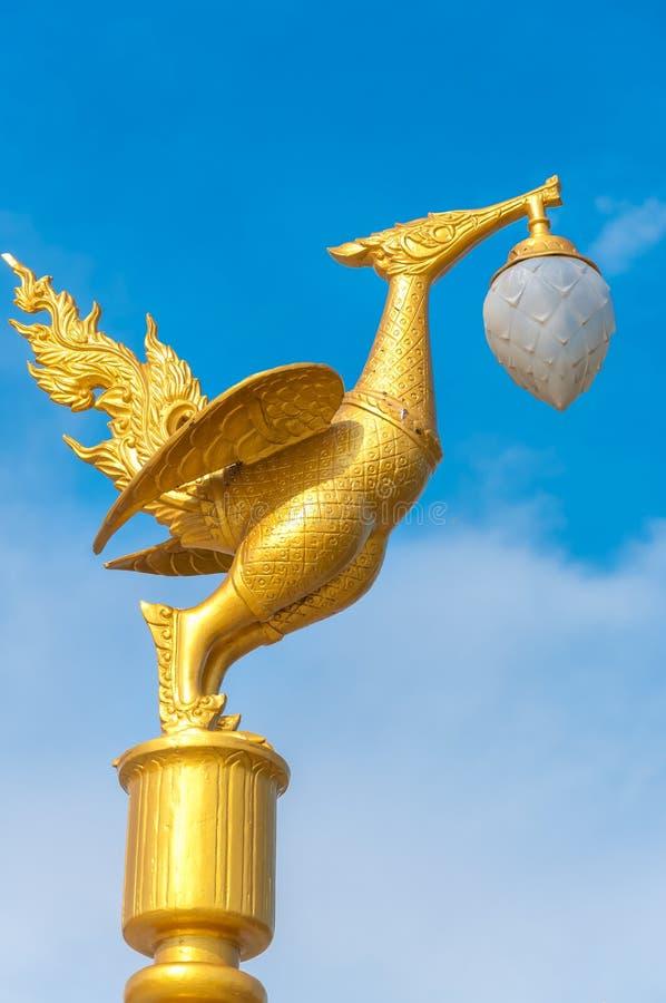 Chiffre moulé par cygne thaïlandais d'or photo libre de droits
