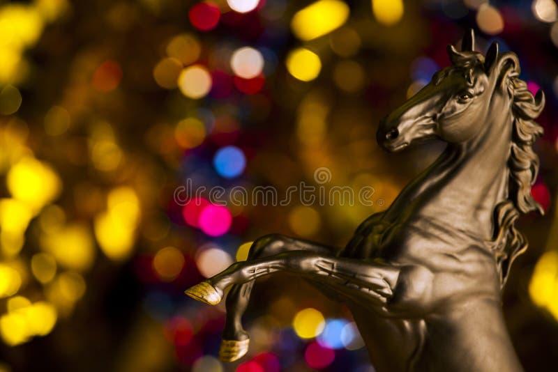 Chiffre noir qualité de cheval de studio photo stock