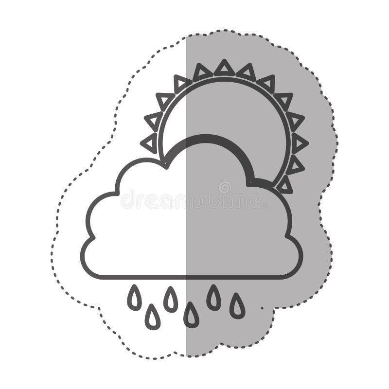 Download Chiffre Nuage Rainning Avec L'icône Du Soleil Illustration Stock - Illustration du pluie, nuit: 87707767