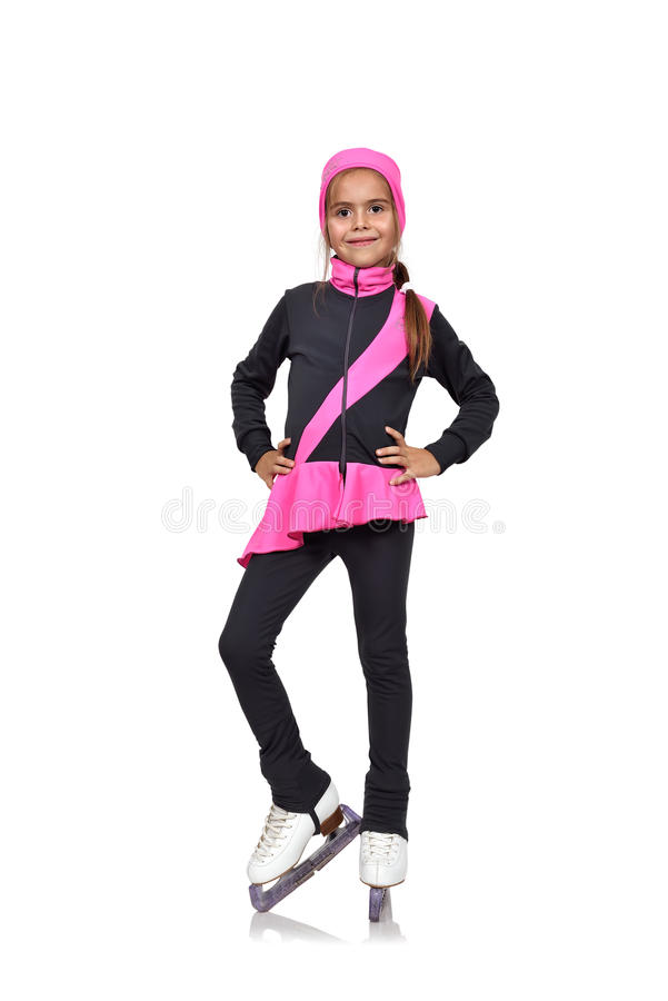 Chiffre patinage de jeune fille images stock