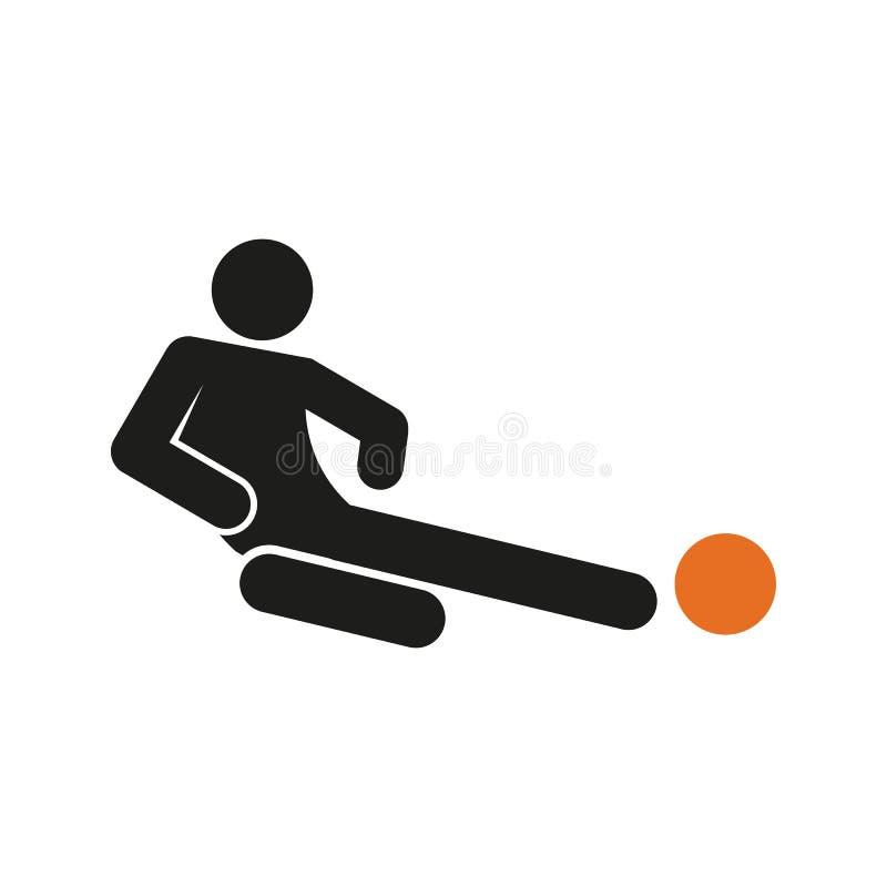 Chiffre simple illustration de sport du football du football d'attirail de glissement de vecteur de symbole illustration stock