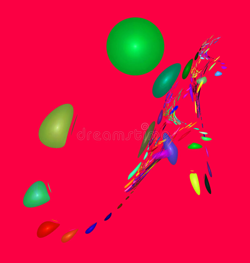 Chiffres abstraits multicolores illustration stock